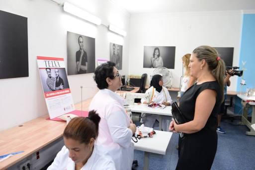 Belen Elisa Presidenta de España Creativa charla con las mujeres del taller