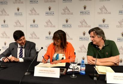 Fadela Mohatar, firma acuerdo de colaboración entre Fundación Orbayo y Fundación Obra Social La Caixa