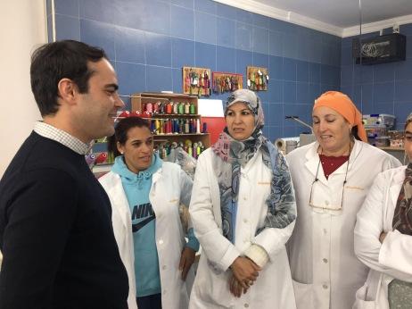 Ion Fiz en el taller de Lal La Buya primeros encuentros con las mujeres.