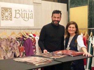 Sergio Gallardo presidente de Lal La Buya junto a Audith Zapata amiga y colaboradora del proyecto
