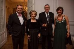 Fadela Mohatar, consejera de cultura junto a la representación de la casa de Melilla en Madrid